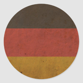 Vintage Germany Flag Classic Round Sticker