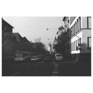 Vintage Germany Frankfurt City street cars Tissue Paper