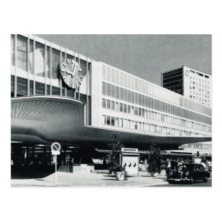 Vintage Germany, Munich, Airport terminal building Postcard