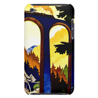 Vintage Germany Railways Travel Poster Barely There iPod Cases