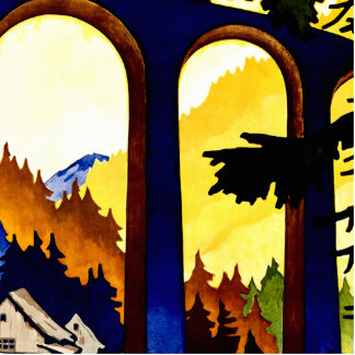 Vintage Germany Railways Travel Poster Acrylic Cut Outs