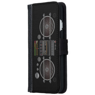 Vintage Ghetto Blaster Boombox iPhone 6 Wallet Case