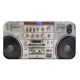 Vintage ghetto blaster iPhone 4 covers