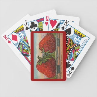 Vintage Giant Strawberries Bicycle Playing Cards