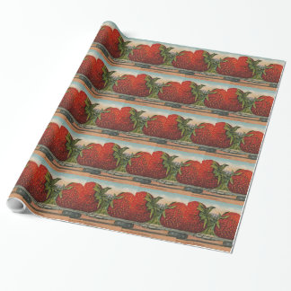Vintage Giant Strawberries Wrapping Paper