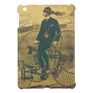 Vintage Giant Tricycle Gentleman Mustache Funny Case For The iPad Mini