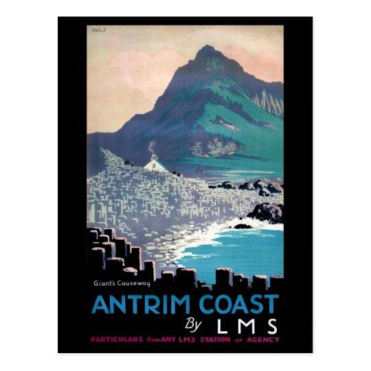 Vintage Giants Causeway Antrim Coast Ireland Postcard