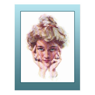Vintage Gibson Girl Style Illustration Cards Postcard