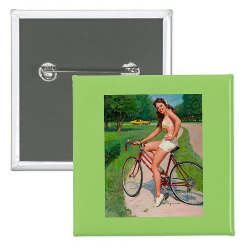 Vintage Gil Elvgren Bicycle Cyclist Pin up Girl