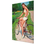 Vintage Gil Elvgren Bicycle Cyclist Pin up Girl Gallery Wrap Canvas
