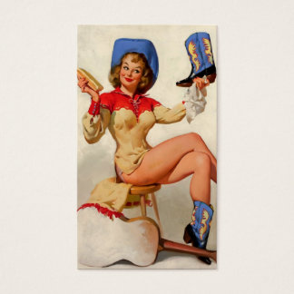 Vintage Gil Elvgren Boot Shine Country Pin UP Girl
