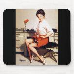 Vintage Gil Elvgren Office Corporate Pinup Girl