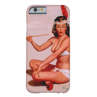 Vintage Gil Elvgren Pin Up Girl Smoking Peace Pipe Barely There iPhone 6 Case
