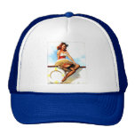 Vintage Gil Elvgren Sailor Nautical Pin up Girl Cap