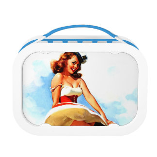 Vintage Gil Elvgren Sailor Nautical Pin up Girl Lunch Box