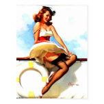 Vintage Gil Elvgren Sailor Nautical Pin up Girl Postcards