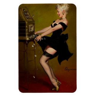 Vintage Gil Elvgren Slot Machine Pinup Girl Rectangular Photo Magnet