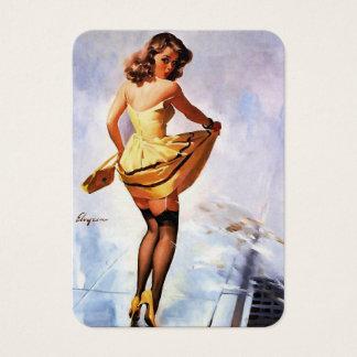 Vintage Gil Elvgren Splash in the City Pinup Girl Business Card
