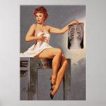 Vintage Gil Elvgren X Ray Radiography Pinup Girl Print
