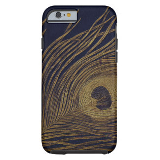 Vintage Gilded Peacock Feather Tough iPhone 6 Case