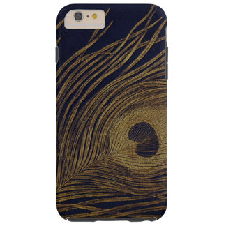 Vintage Gilded Peacock Feather Tough iPhone 6 Plus Case
