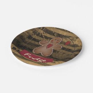 Vintage Gingerbread Man 7 Inch Paper Plate
