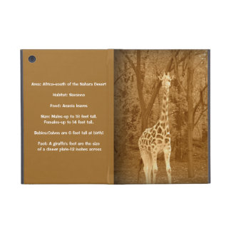 Vintage Giraffe-Fun Facts Case For iPad Mini