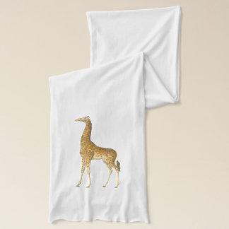 Vintage Giraffe Illustration Sheer Scarf