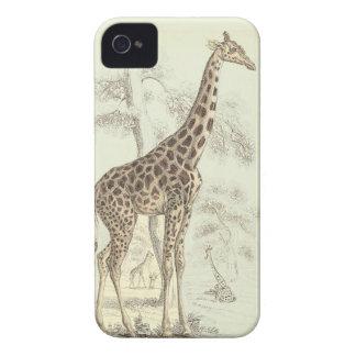 vintage giraffe iphone iPhone 4 Case-Mate case