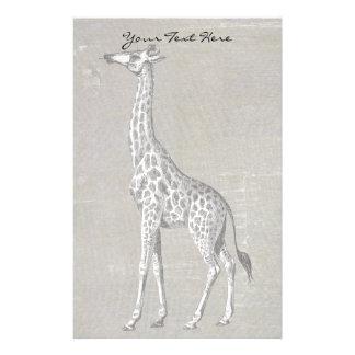 Vintage Giraffe Stationery