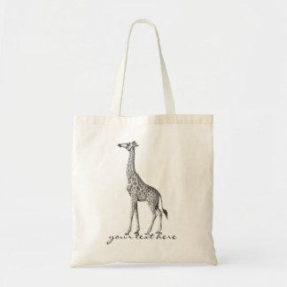 Vintage Giraffe Tote Bag