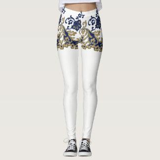 Vintage Girdle Lace Shorts White Leggings