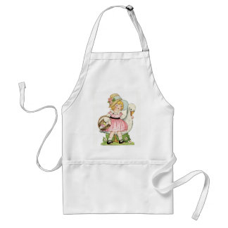 Vintage Girl and Goose Standard Apron