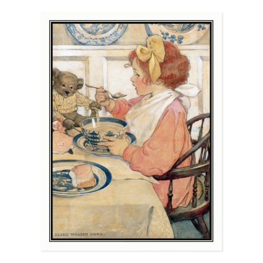 Vintage Girl at Breakfast by Jessie Willcox Smith