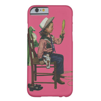 Vintage Girl Cowgirl Looking  Mirror She's so Vain Barely There iPhone 6 Case