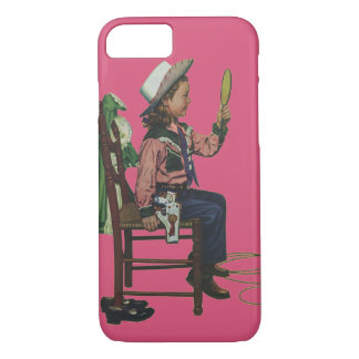 Vintage Girl Cowgirl Looking  Mirror She's so Vain iPhone 7 Case