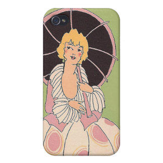Vintage Girl iPhone 4/4S Cases