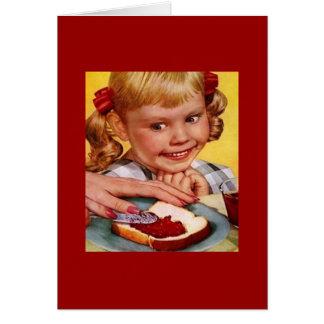 Vintage Girl & Jelly Sandwich Card