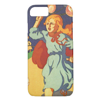 Vintage Girl Little Red Riding Hood Birthday Party iPhone 7 Case