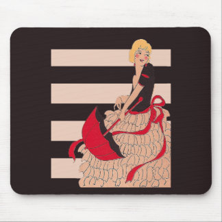 Vintage Girl Mouse Pad