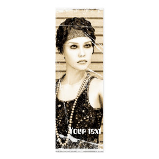 Vintage Girl, Old Photo Effect Pack Of Skinny Business Cards
