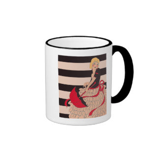 Vintage Girl Ringer Mug