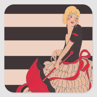 Vintage Girl Stickers