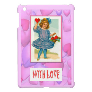 Vintage girl with apples, With love iPad Mini Cover