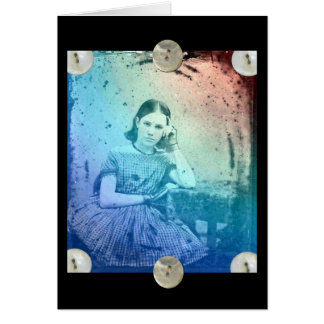 Vintage Girl, You Are Loved Greeting Card