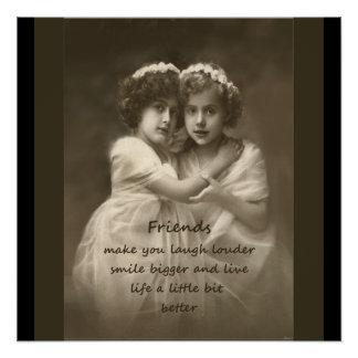 Vintage Girlfriends Friendship Quote