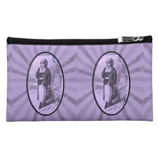 vintage girls baggette cosmetic bag