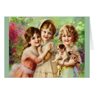 Vintage Girls Best Friends Birthday Card