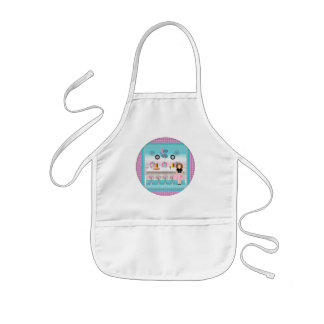 Vintage Girls T-Shirts and Gifts Kids Apron