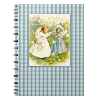 Vintage Girls with Chicks Easter Gift Notebook